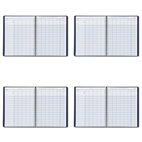 House-of-Doolittle-Academic-Series-Class-Record-Book-Blue-Leatherette-Cover-8-x-11-Inches-HOD51407-4-Packs-0