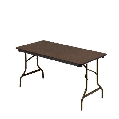 Iceberg-Economy-Wood-Laminate-Folding-Table-with-Brown-Steel-Legs-Walnut-0