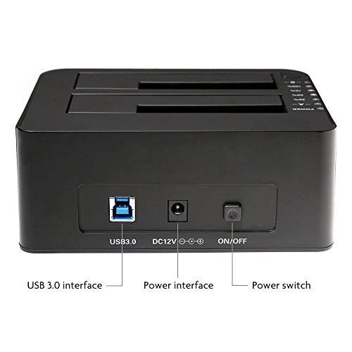 Inateck-USB-30-to-SATA-Dual-Bay-USB-30-Hard-Drive-Docking-Station-with-Offline-Clone-Function-for-25-35-Inch-HDD-SSD-SATA-SATA-I-II-III-Support-2x-8TB-and-UASP-Tool-Free-0-1