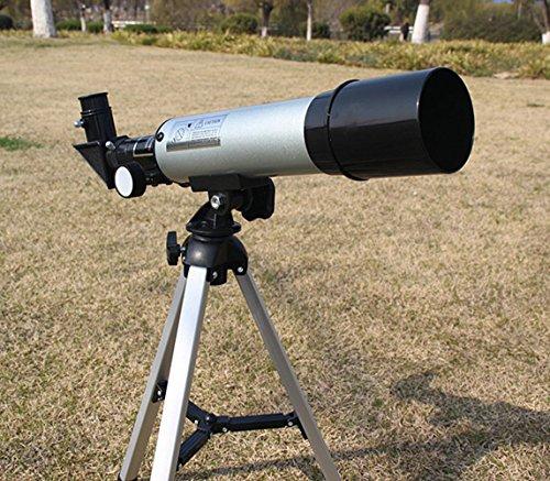 Insun-Astronomy-Beginners-Kids-Monocular-Refractor-Telescope-Sliver-50mm15x-ErectorH20mmH6mm-0-0