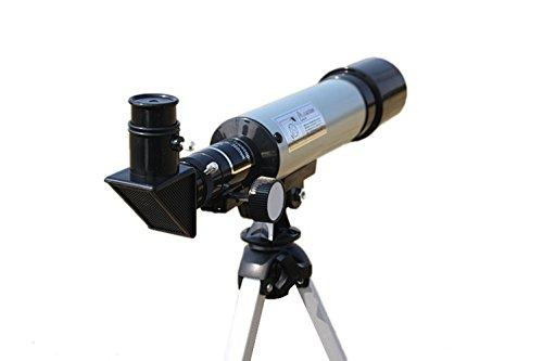 Insun-Astronomy-Beginners-Kids-Monocular-Refractor-Telescope-Sliver-50mm15x-ErectorH20mmH6mm-0