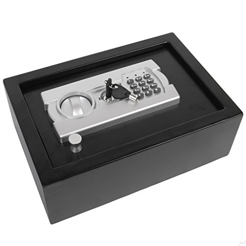 Ivation-Electronic-Gun-Drawer-Safe-wFull-Digit-Keypad-Override-Keys-Solid-Steel-Construction-Hidden-WallFloor-Anchoring-Design-Runs-on-4-AA-Batteries-Included-0-0