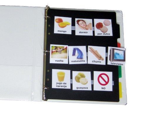 Juego-completo-de-fotos-para-la-Comunicacin-de-Autismo-en-Espaol-140-fotos-120-puntos-de-Velcro-12-tiras-4-divisores-y-la-carpeta-compatible-con-Spanish-PECS-in-Spanish-Picture-Exchange-Communication–0-1