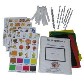 Juego-completo-de-fotos-para-la-Comunicacin-de-Autismo-en-Espaol-140-fotos-120-puntos-de-Velcro-12-tiras-4-divisores-y-la-carpeta-compatible-con-Spanish-PECS-in-Spanish-Picture-Exchange-Communication–0
