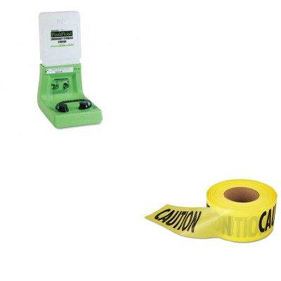 KITEML711001FND320004000000-Value-Kit-Eyesaline-flash-flood-hands-free-eye-wash-station-FND320004000000-and-Empire-Level-Caution-Barricade-Tape-EML711001-0