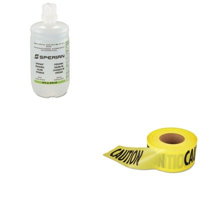 KITEML711001FND320004540000-Value-Kit-Honeywell-Saline-Personal-Eyewash-Bottles-FND320004540000-and-Empire-Level-Caution-Barricade-Tape-EML711001-0
