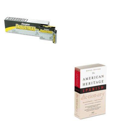 KITEVEEN91HOUH21079-Value-Kit-HOUGHTON-MIFFLIN-COMPANY-American-Heritage-Office-Spanish-Dictionary-HOUH21079-and-Energizer-Industrial-Alkaline-Batteries-EVEEN91-0