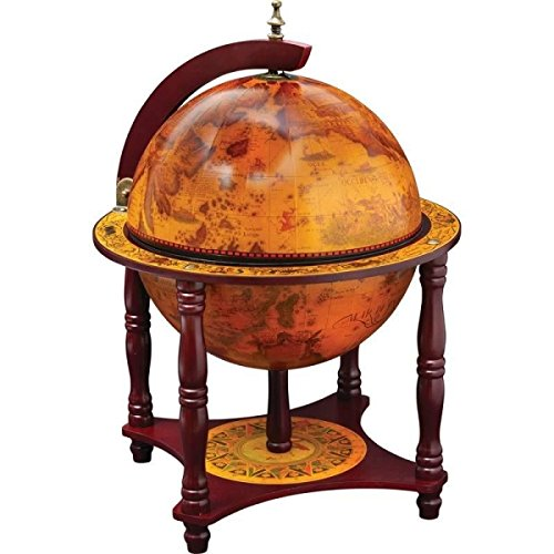 KasselTM-13-Diameter-Globe-with-57pc-Chess-and-Checkers-Set-0