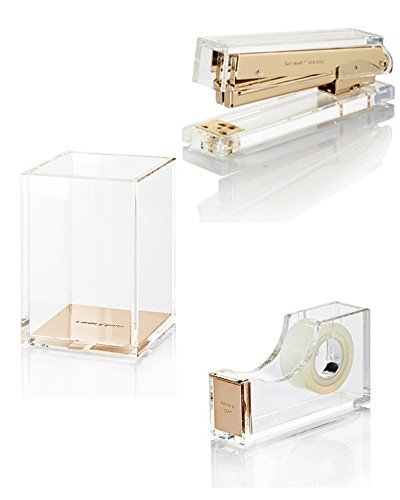 Kate-Spade-Strike-Gold-Assortment-Stapler-Tape-Dispenser-Pencil-Cup-0