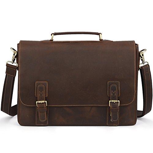 Kattee-Mens-Leather-Satchel-Briefcase-16-Laptop-Messenger-Shoulder-Bag-Tote-0