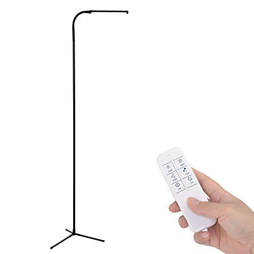 Kihung-UY-F9-6-Feet-Remote-Control-Dimmable-LED-Floor-Lamp-120-Level-Adjustable-3000-6000K-6W-500-Lumens-Ultrahigh-Brightness-Black-0