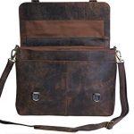 KomalC-15-Inch-Retro-Buffalo-Hunter-Leather-Laptop-Messenger-Bag-Office-Briefcase-College-Bag-0-0