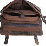 KomalC-15-Inch-Retro-Buffalo-Hunter-Leather-Laptop-Messenger-Bag-Office-Briefcase-College-Bag-0-1