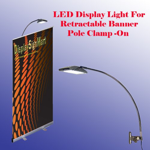 LED-78-Led-Display-Light-White-Light-6000k-Retractable-Roll-up-Banner-Stand-Lamp-Trade-Show-Booth-Replace-Halogen-Las-Vegas-Show-Approved-Pole-Clamp-on-Style-0