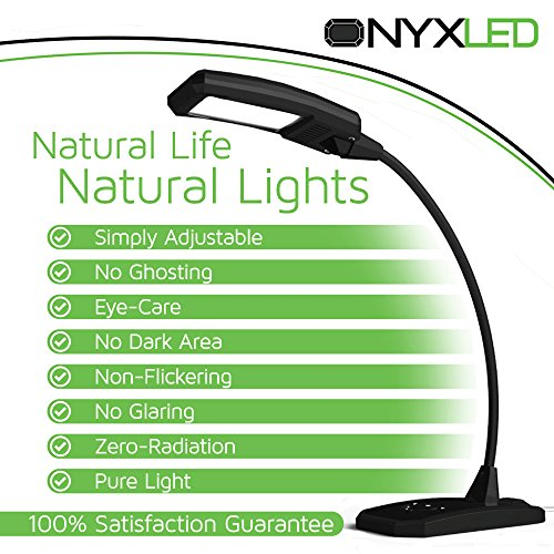 LED-Desk-Lamp-Touch-Lamp-ONYXLED-LS-1030-3-in-1-TouchAdjustableUSB-Outlet-Charger-For-Portable-Devices-5-Level-Lamp-Dimmer-Touch-Lamp-Pad-22-Inch-Max-Height-Flexible-Gooseneck-BLACK-0-0