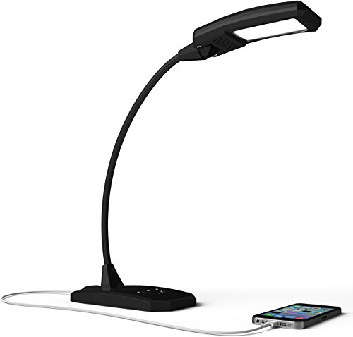 LED-Desk-Lamp-Touch-Lamp-ONYXLED-LS-1030-3-in-1-TouchAdjustableUSB-Outlet-Charger-For-Portable-Devices-5-Level-Lamp-Dimmer-Touch-Lamp-Pad-22-Inch-Max-Height-Flexible-Gooseneck-BLACK-0