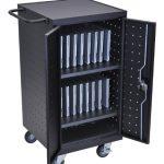 LUXOR-LLTP18-B-Laptop-Computer-Charging-Cart-18-Black-0