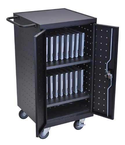 LUXOR-LLTP18-B-Laptop-Computer-Charging-Cart-18-Black-0