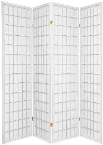 Legacy-Decor-4-Panels-Shoji-Screen-Room-Divider-White-71H-x-70W-0