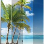 Legacy-Deocr-4-panel-Canvas-Room-Screen-Divider-Double-Sided-Virgin-Islands-Beach-Design-0