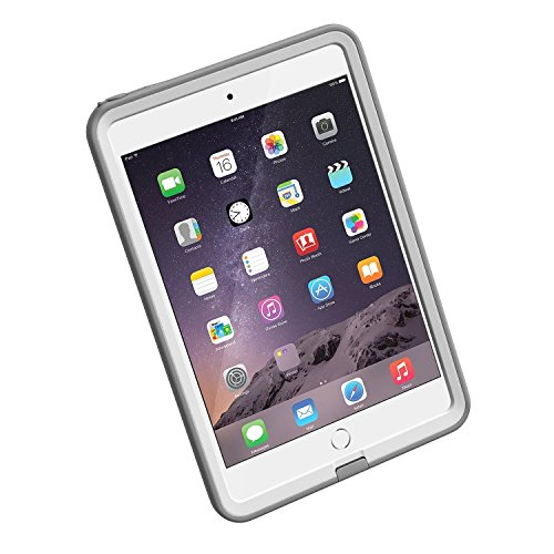 LifeProof-FRE-iPad-MiniMini-2Mini-3-Waterproof-Case-Retail-Packaging-AVALANCHE-WHITEGREY-0