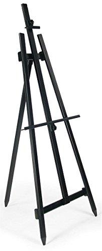 Liquid-Chalkboard-with-Heavy-Duty-Presentation-Easel-Adjustable-FoldingBlack-Aluminum-0-1