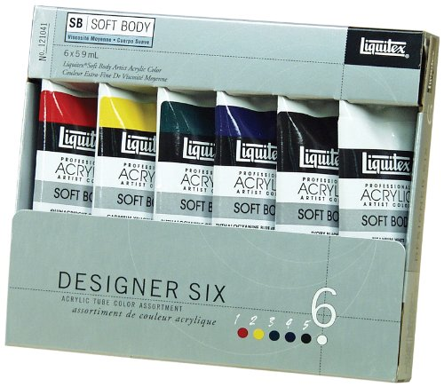 Liquitex-Professional-Soft-Body-Acrylic-Paint-Designer-Tube-6-piece-Set-0