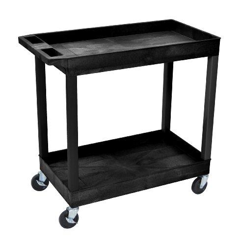 Luxor-EC11-2-Shelf-High-Capacity-Tub-Cart-0