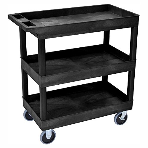 Luxor-HD-High-Capacity-3-Tub-Shelf-Cart-0