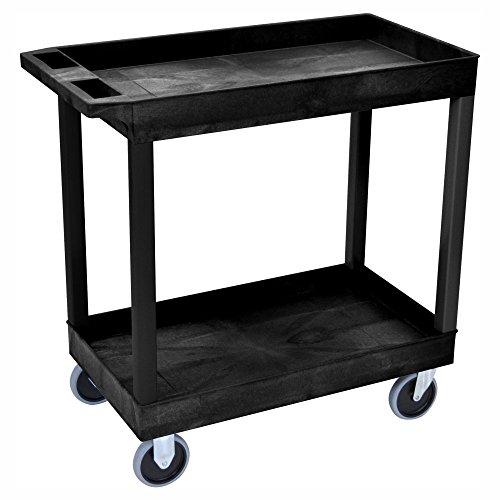 Luxor-High-Capacity-2-Tub-Shelf-Cart-0