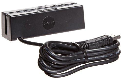 MagTek-21040140-SureSwipe-Dual-Head-Triple-Track-USB-HID-Magnetic-Stripe-Reader-with-6-Cable-60-ins-Swipe-Speed-5V-Black-0