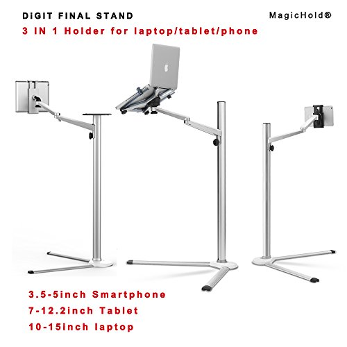 Magichold-3-in-1-360-Rotating-Height-Adjustable-Laptop-Stand-Ipad-Pro-129iPAD-AiriPAD-mini-any-size-Tablet-Bed-floor-Stand-for-Laptop13-156-inch-0