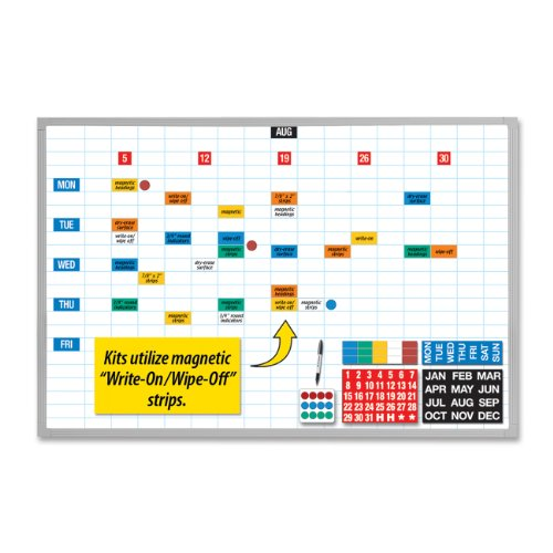 Magna-Visual-EBK-2436-Magna-Visual-Lustreboard-Planning-Kit-Porcelain-On-Steel-36×24-WEAluminum-0