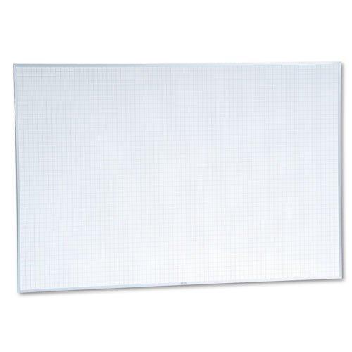 Magna-Visual-Magnetic-Porcelain-Board48x721x1-GridAluminum-Frame-MAVPBFG8-0