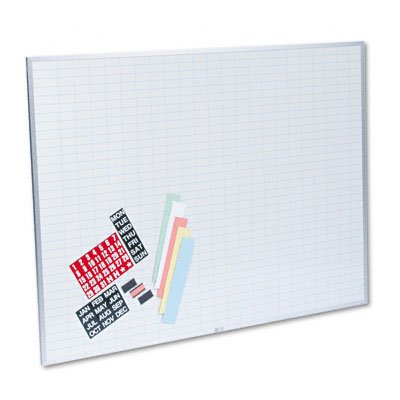 Magna-Visual-OB-3648B-Magna-Visual-Magnetic-WorkPlan-Kit-1×2-Grid-Porcelain-On-Steel-48×36-BEWE-0
