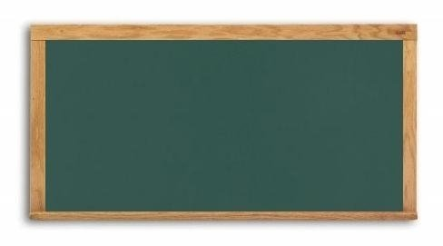 Marsh-48X72-Green-Composition-Wall-Mounted-Chalkboard-Oak-Wood-Trim-0