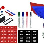 MasterVision-Basic-Magnetic-Kit-for-Use-with-Planning-Boards-27-Pieces-Including-Magnetic-Sheets-Tape-KT1416-0