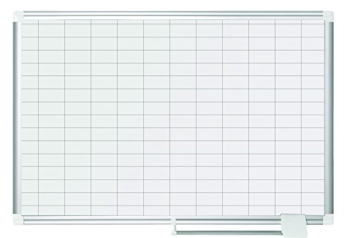 MasterVision-Magnetic-Gold-Ultra-1-x-2-Inch-Grid-Dry-Erase-Planning-Board-with-Accessories-Kit-48-x-72-Inches-MA2792830A-0