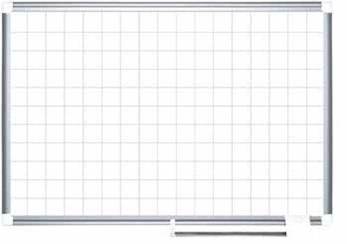 MasterVision-Magnetic-Porcelain-Steel-Dry-Erase-Planner-1-x-1-Grid-Aluminum-Frame-36-x-48-CR0894830-0