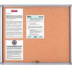 MasterVision-Waterproof-Outdoor-Enclosed-Cork-Bulletin-Board-30-x-265-Aluminum-Frame-VT340601760-0-1