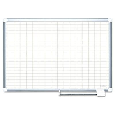 Mastervision-Grid-Planning-Board-1X2-Grid-36X24-WhiteSilver-Product-Category-PresentationDisplay-Scheduling-BoardsPlanning-BoardsSchedulers-0