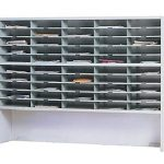 Mayline-Mailflow-To-Go-Systems-2-Tier-Elevated-Sorter-with-50-Pockets-Pebble-Gray-Paint-0