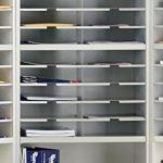 Mayline-SR2446RPG-Mailroom-system-2-tier-corner-sorter-wriser-20-pockets-24w-x-13-14d-x-46-14-0