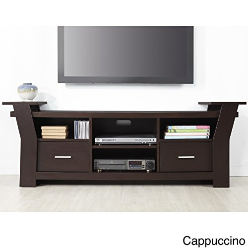Metro-Shop-Furniture-of-America-Skyler-Contemporary-64-inch-Wide-Brown-Cappuccino-Two-Drawers-Entertainment-TV-Console-Cappuccino-0
