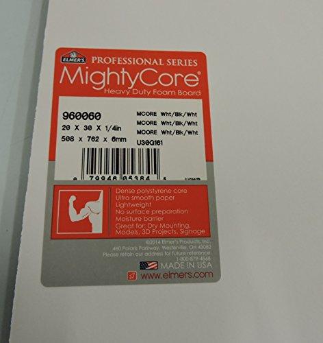 MightyCore-20×30-Premium-Foam-Board-White-surface-with-Black-center-5-shts-0-0