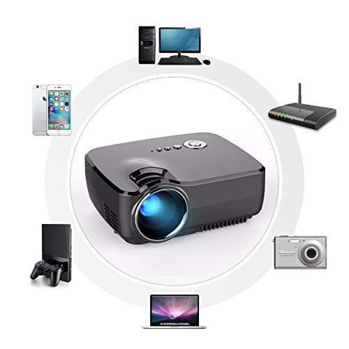 Mini-Projector-ELEGIANT-HD-Movie-Portable-Projectors-1200-Lumens-Support-1080P-HDMIUSBAVSDVGA-Built-in-TV-Tuner-for-Home-Theater-PS2PS3XBOX-Games-iPhone-iPad-Mac-Android-Smartphone-0-1
