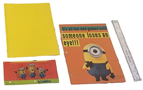 Minons-Despicable-Me-15-piece-School-Set-Bundle-16-inch-Backpack-Notebook-Pencils-Crayons-Markers-Scissors-and-More-0-1