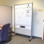 Mobile-Magnetic-Whiteboard-Room-Divider-w-Mesh-0