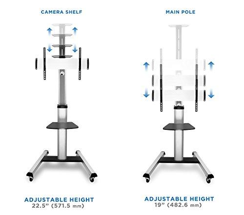 Mount It Mi 875 Tv Cart Mobile Height Adjustable Tv Stand