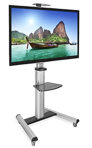 Mount It Mi 875 Tv Cart Mobile Height Adjustable Tv Stand Wheeled